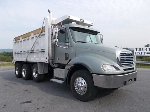 small resolution of used 2005 freightliner columbia cl120 tri axle aluminum dump truck 518641