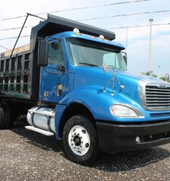 used 2007 freightliner columbia t a steel dump truck 2602 [ 1024 x 768 Pixel ]