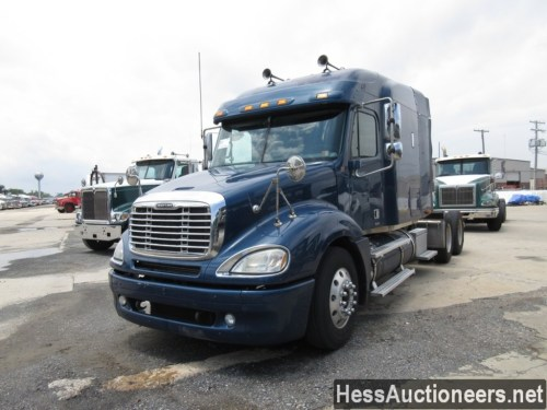 small resolution of used 2005 freightliner columbia tandem axle sleeper trailer 31375