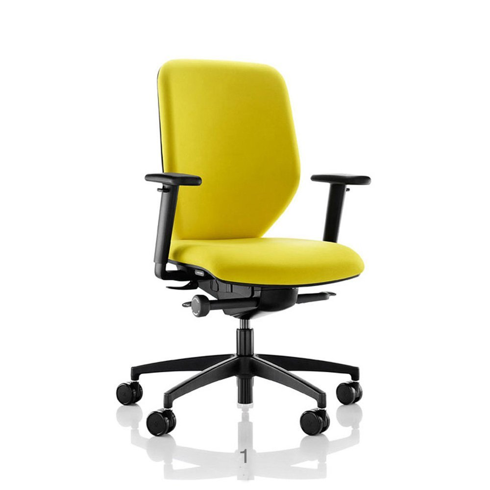 yellow office chair reupholster dining room chairs how much fabric velvet task imarket thailand co ltd