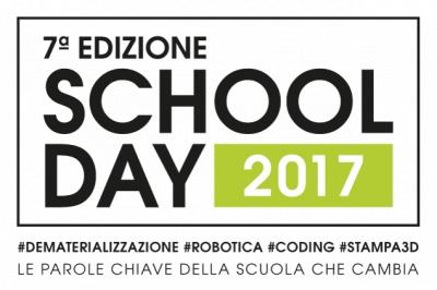School Day 2017. #Dematerializzazione #Robotica #Coding #Stampa3D. Le parole chiave della scuola che cambia