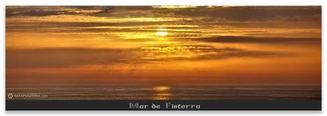 Comprar fotografía de Galicia Paisajes Gallegos Puesta de Sol Mar de Fisterra Decoración Naturaleza