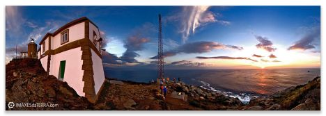 Comprar fotografía de Galicia Faros Paisajes Gallegos Puesta de Sol Peregrinos Fisterra Anochecer Camino de Santiago Decoración Naturaleza