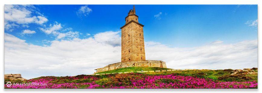 Torre de Hércules na primavera, Comprar fotografía de Galicia Torre de Hércules Faros Galegos Primavera Decoración Natureza Paisaxe Atlántica