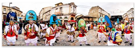 Comprar fotografía Fiestas de Galicia Carnaval de Verín Cigarróns Decoración
