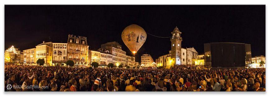 Globo de Betanzos, Comprar fotografía de Galicia Globo de Betanzos Festas de Galicia San Roque Verán Decoración