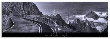 Comprar fotografía Faros de Galicia Faro de Cabo Ortegal Naturaleza Decoración Paisajes, Blanco y Negro