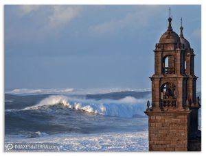 A Barca non mar, Comprar fotografía de Galicia Santuario dá  Virxen dá Barca de Muxía Atlántico Decoración natureza