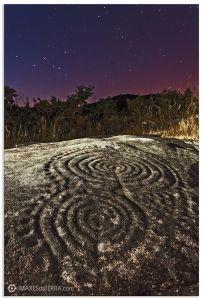 Universo Laxe dás Rodas, Comprar fotografía  de Galicia Petróglifo Laxe dás Rodas Muros Universo Decoración