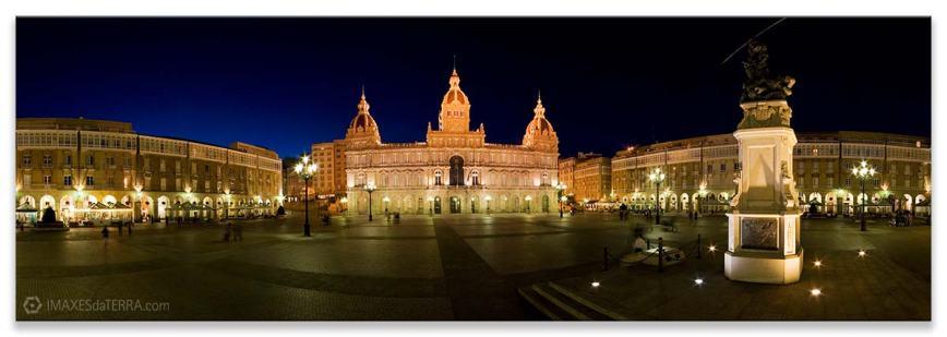Plaza de María Pita, Comprar fotografía de Galicia A Coruña Plaza de María Pita Decoración Panorámica
