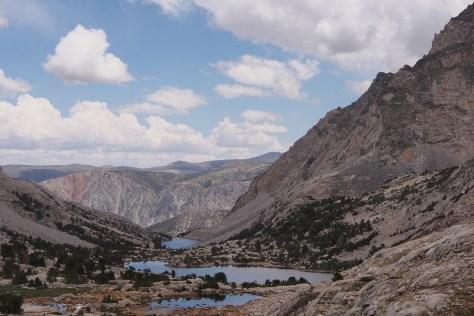 Piute Lake from below Piute Pass