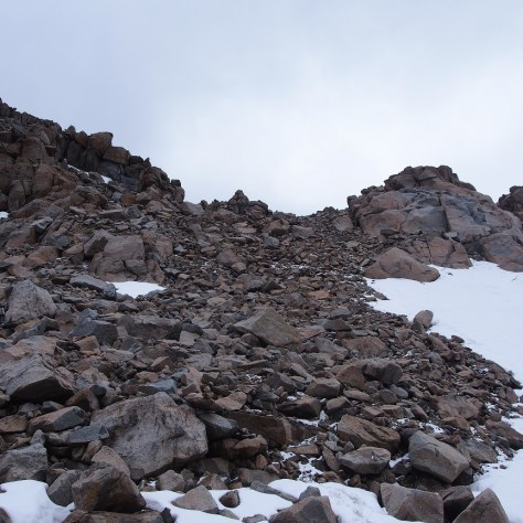 East side ascent to Lamarck Col.