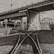 Track under the Balllard Bridge
