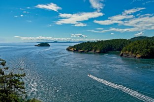 Deception Pass, looking west from the bridge