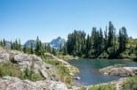 Rampart Lakes and Hibox Mountain