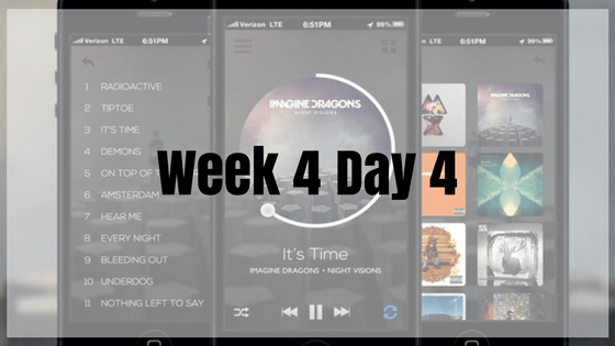 Week 4 Day 4 – Music App!