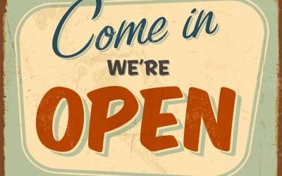 Yep, We're Open Today!