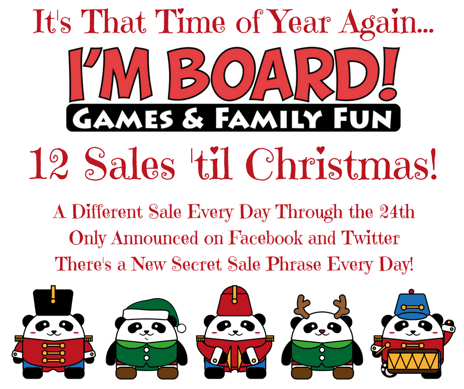 12 Sales 'til Christmas Begins Wednesday!