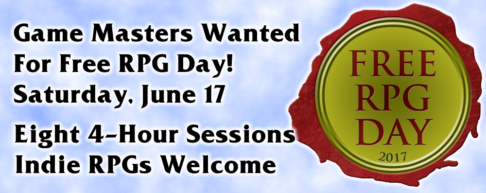 Free RPG Day Game Submissions Now Open!