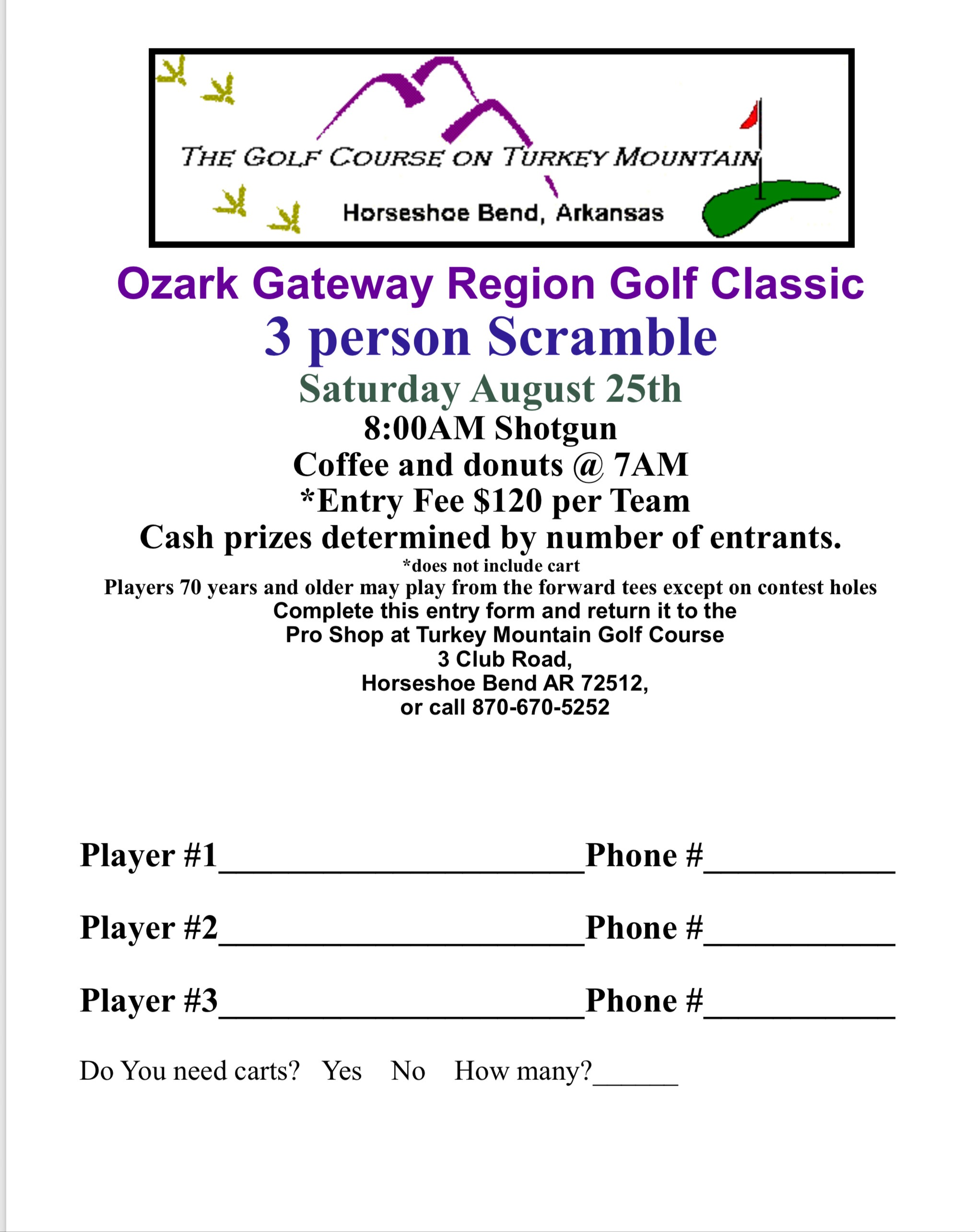 Gateway golf scramble nears