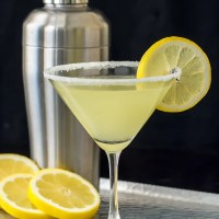 Lemon Drop Martini with a little Limoncello - So good!