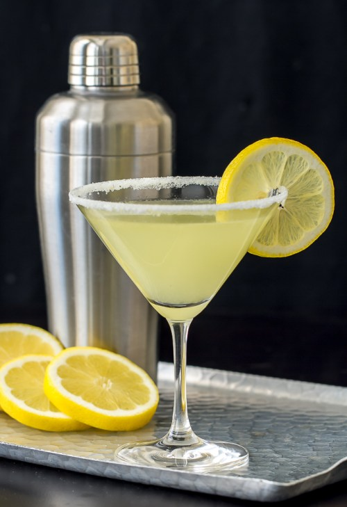 No. 4 of the 10 Most Popular Recipes of 2015 are these Lemon Drop Martini with a little Limoncello - So good!