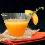 Nectarine Thyme Martini