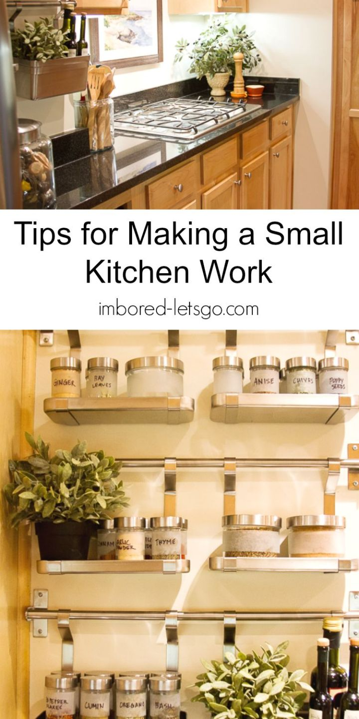 Short on space in your tiny kitchen? Here's some tip to help make your kitchen work.