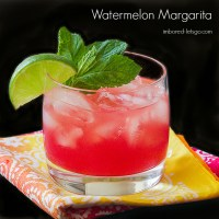 Watermelon Margarita made with fresh watermelon juice