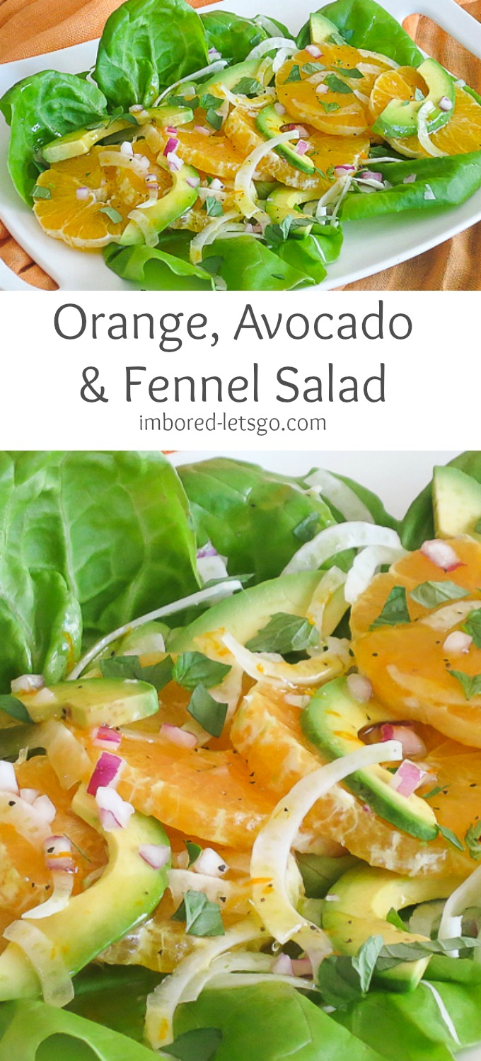 Orange Avocado & Fennel Salad with a delicious, simple vinaigrette