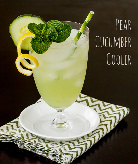Pear cucumber cooler for Pear vodka mixed drinks