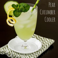 Pear Cucumber Cooler Cocktail