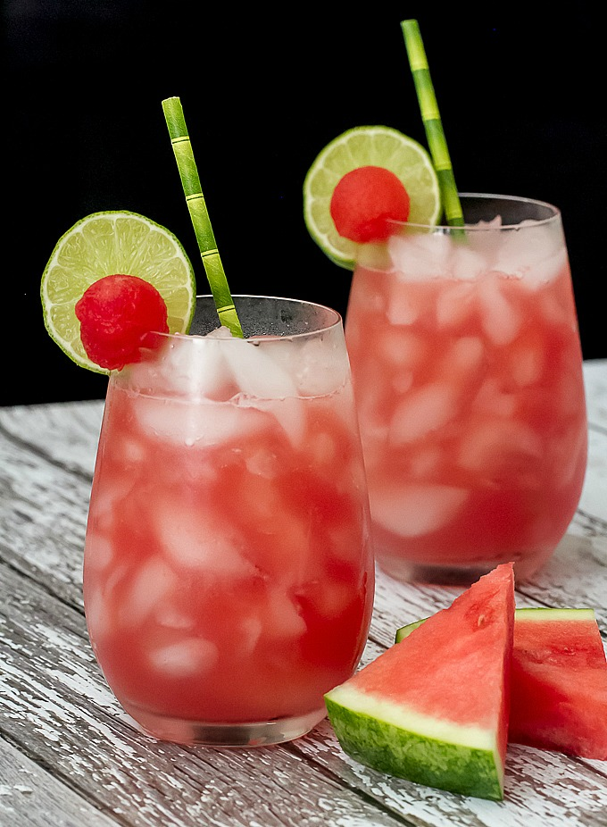 A Watermelon Moscow Mule with fresh watermelon juice