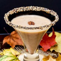 Pecan Pie Martini with Chocolate Pecan Rim