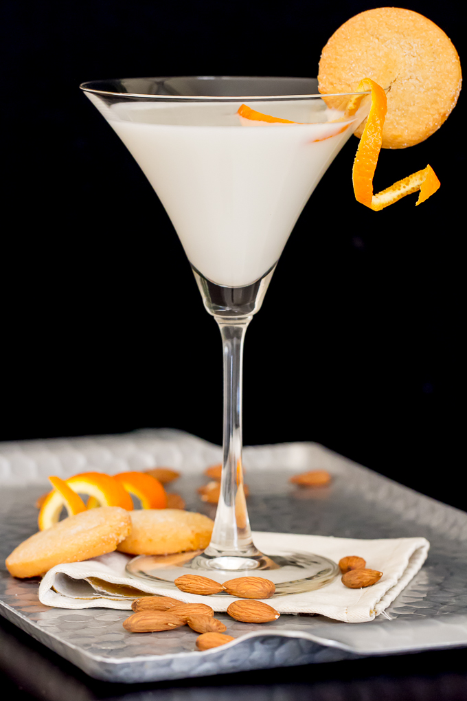Christmas Cookie Martini with Almond and Orange Liqueurs