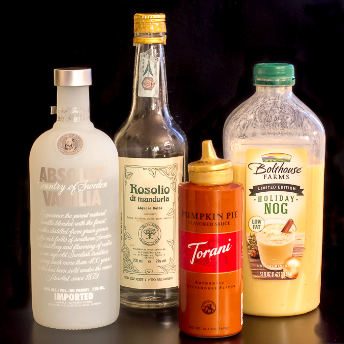 Egg Nog Martini Ingredients