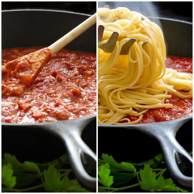 Pasta with Amatriciana Sauce