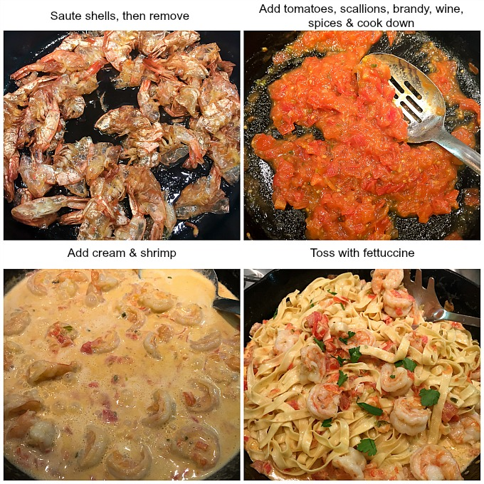 4 Simple Steps to Making Shrimp Sauce for Fettuccine