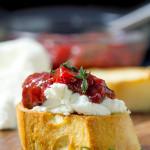 Bruschetta with Strawberry Chutney and Goat Cheese
