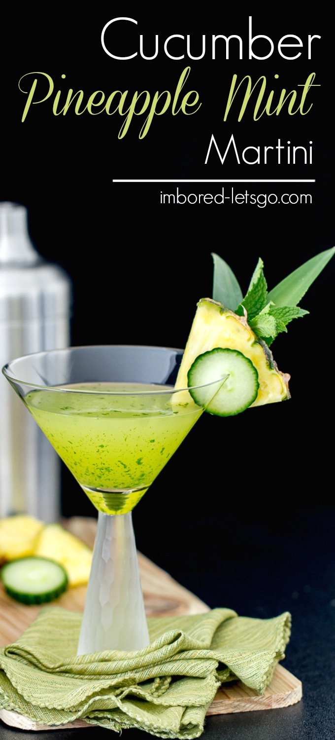 Cucumber Pineapple Mint Martini is refreshing, delicious and makes a perfect summer cocktail