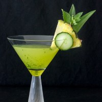 Cucumber Pineapple Mint Martini