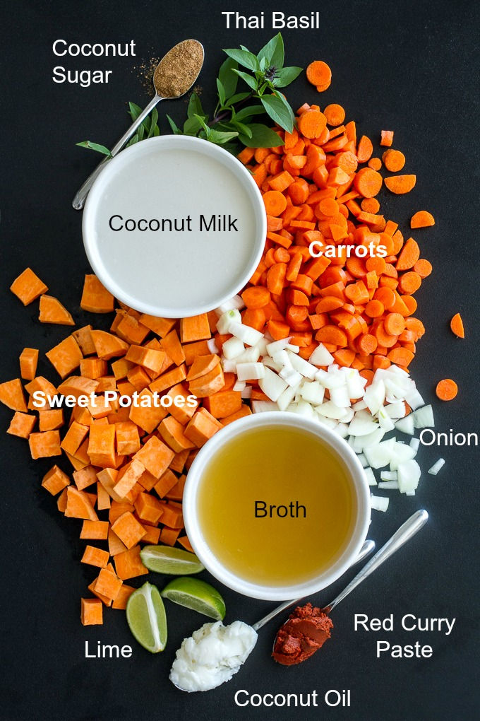 Curried Carrot and Sweet Potato Soup Ingredients