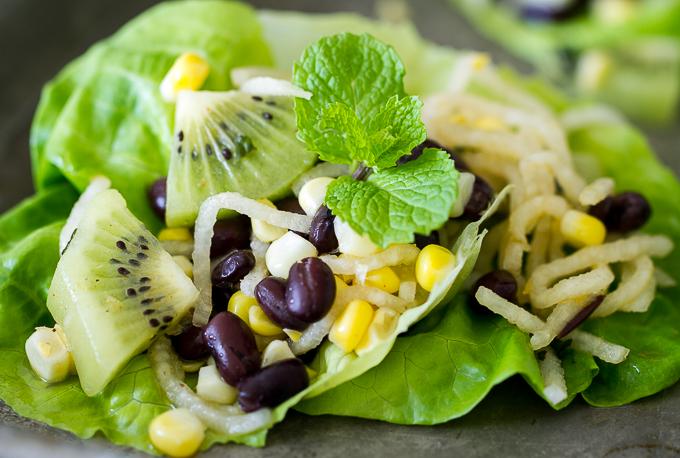 Jicama-Kiwi-Corn-Black-Bean-Lettuce-Wraps_