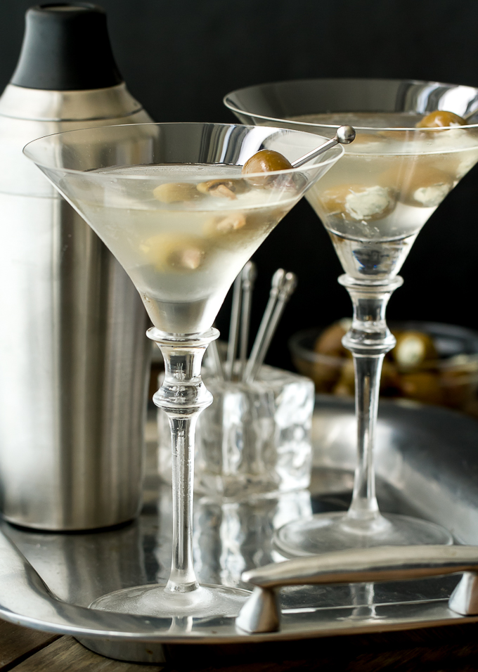 Ingredients needed to make a Vodka Martini: