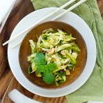 Shaved Asparagus Salad with Asian Dressing