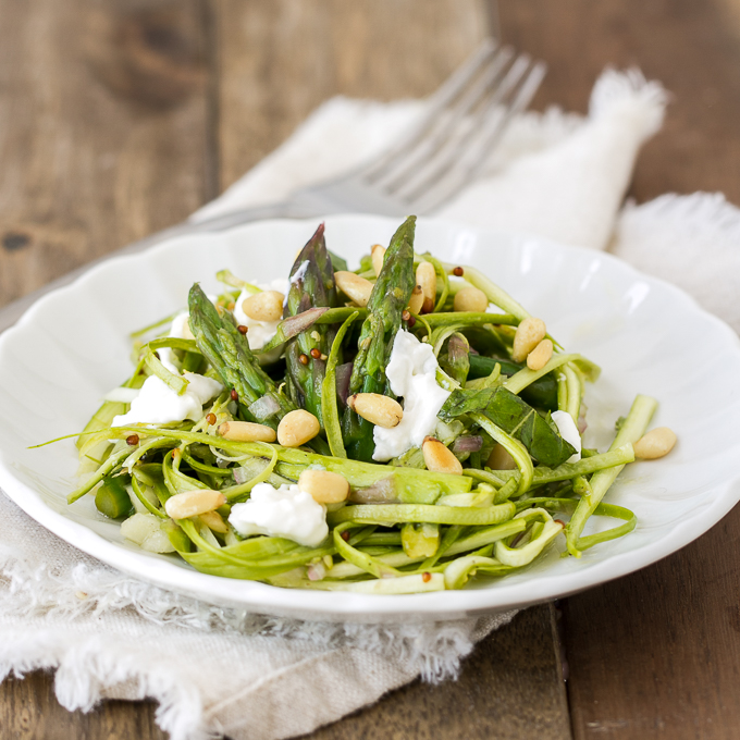Shaved Asparagus Salad with Lemon Vinaigrette