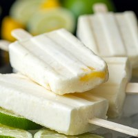 Coconut Mango Lime Popsicles