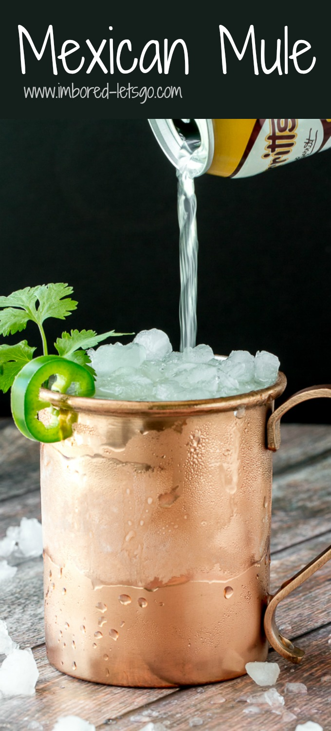 This Mexican Mule is fantastic! Had a delicious spicy kick from jalapeño and earthy herbal note from cilantro. Balanced out with orange and ginger liqueur and topped off with ginger beer and lime!