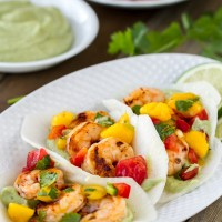 Grilled Chipotle Shrimp Jicama Street Tacos