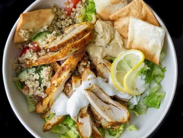 Chicken Shawarma Salad Bowl